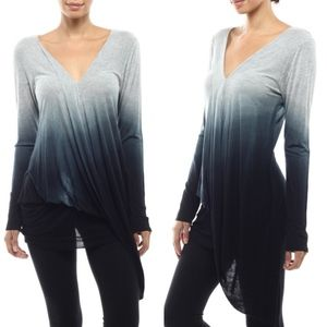 LAURA Dip Dye Top- NAVY mix
